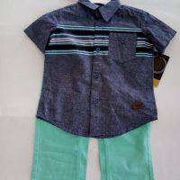 ST15, 02 pcs woven pant set