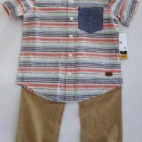 ST17, 02 pcs woven pant set