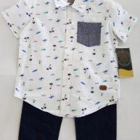 ST20, 2 pcs woven pant set